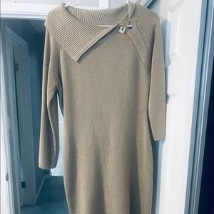 Sparkly Gold Sweater Dress